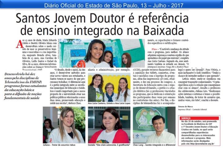 Jovem Doutor é destaque em educação na Baixada Santista