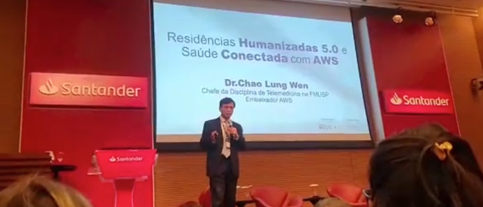 """Apresentação feita pelo Prof. Dr. Chao Lung Wen sobre  """"Casas Inteligentes e Ecossistema de Saúde Conectada"""""""